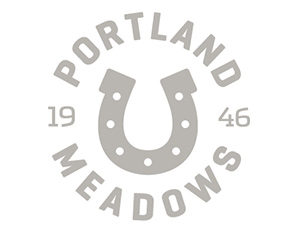 Logo for Portland Meadows horse racing track
